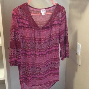 Junior mossimo small 3/4 sleeve blouse